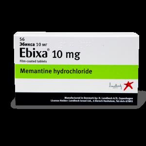 Эбикса, Абикса, Ebixa, мемантин акатинол, 10 мг